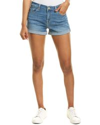 7 For All Mankind 7 For All Mankind Dray Roll-up Short - Blue
