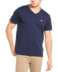 7 For All Mankind 7 For All Mankind V-neck T-shirt - Blue