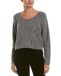 Quinn Cable-knit Cashmere Sweater - Gray