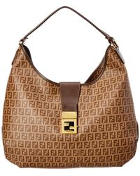44cc77e231 Lyst - Fendi Zucchino Mamma Bague Shoulder Bag - Vintage in Orange