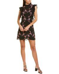 La Maison Talulah Floral Mini Dress - Black