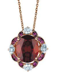 Le Vian - 14k Rose Gold 5.97 Ct. Tw. Gemstone Necklace - Lyst