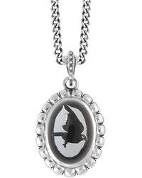 King Baby Studio Silver Multi Skull Bezel Pendant Necklace - Metallic