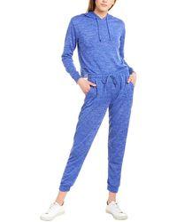 Catherine Malandrino 2pc Hoodie & Pant Set - Blue