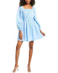 Donna Morgan Poplin Mini Dress - Blue