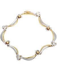Damiani 18k Tri-color 0.52 Ct. Tw. Diamond Bracelet - Metallic
