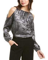 1.STATE Cold-shoulder Top - Metallic