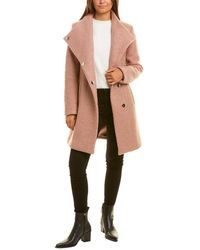 Kenneth Cole Wool-blend Coat - Pink