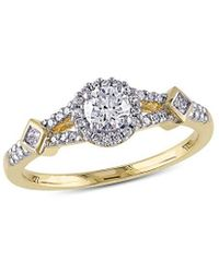 Rina Limor 14k 0.50 Ct. Tw. Diamond Crossover Engagement Ring - Metallic