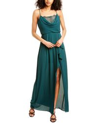 BCBGMAXAZRIA Blouson Maxi Dress - Green