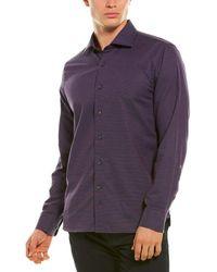 Hickey Freeman Bleeker Woven Shirt - Purple