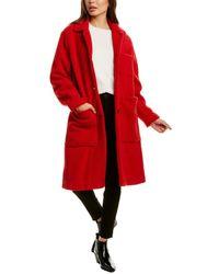 Woolrich Hazelton Wool-blend Coat - Red