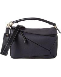Loewe Puzzle Small Leather Shoulder Bag - Multicolour