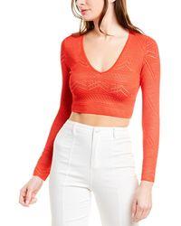 BCBGMAXAZRIA Alexa Crop Sweater - Pink