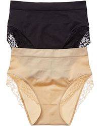 Yummie By Heather Thomson 2pk Mid-waist Lace Brief - Black