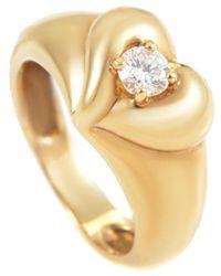 Heritage Van Cleef & Arpels - Van Cleef & Arpels 18k 0.25 Ct. Diamond Heart Ring - Lyst