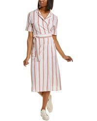 Habitual Nola Linen-blend Shirtdress - Brown