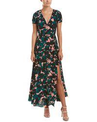 Robert Graham Silk Wrap Dress - Green