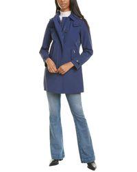Woolrich Charlotte Medium Trench Coat - Blue