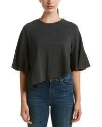 Kendall + Kylie - Asymmetric Flutter T-shirt - Lyst