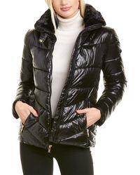 Via Spiga Zip Front Shiny Jacket - Black
