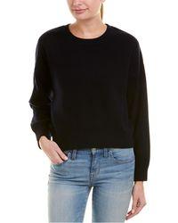 Vince - Dropped-shoulder Cashmere-blend Crew Sweater - Lyst