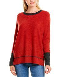Forte High-low Cashmere Sweatshirt - Red