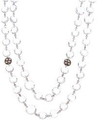 Coomi Opera Silver 0.15 Ct. Tw. Diamond Crystal Necklace - Metallic