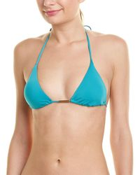 Sofia By Vix Triangle Bikini Top - Blue