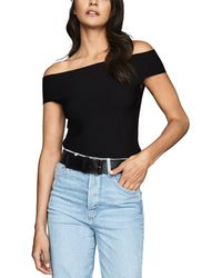 Reiss Megan Bardot Vn Fitted To - Black