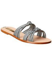 Kaanas Iguazu Leather Sandal - Gray