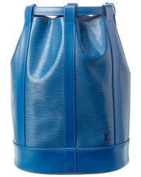 Louis Vuitton Blue Epi Leather Randonnee Pm