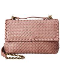 Bottega Veneta Intrecciato Olimpia Bag Small Leather Desert Rose - Lyst d0adbd8e8d1e4
