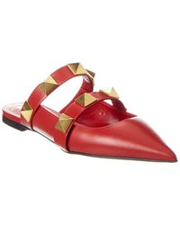 Valentino Valentino Garavani Roman Stud Leather Mule - Red