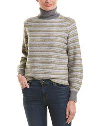 Vince Fairisle Wool & Cashmere-blend Sweater - Grey