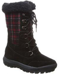 BEARPAW Lotus Leather Boot - Black
