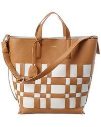 3.1 Phillip Lim Odita Lattice Leather Tote - Brown
