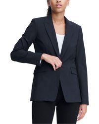 Rag & Bone Hazel Wool Blazer Tailored Fit Blazer - Blue