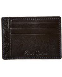 Robert Graham Sainz Leather Card Case - Black