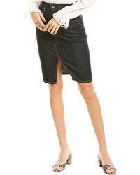 AG Jeans Emery High-waist Pencil Skirt - Blue