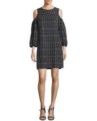 Maggy London - Lace Cold-shoulder Shift Dress - Lyst