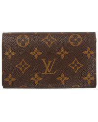 Louis Vuitton Monogram Canvas Tresor Wallet - Brown