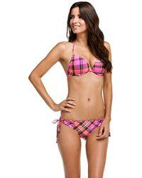 Oakley - Pink Blast Reversible String Bikini Bottom - Lyst