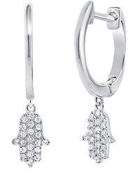 Sabrina Designs 14k 0.17 Ct. Tw. Diamond Earrings - Multicolour