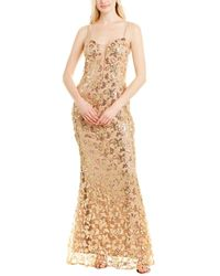 Dress the Population Marie Gown - Yellow