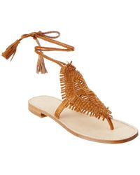Joie Kacia Leather Sandal - Brown