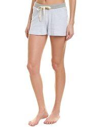 Three Dots Striped Pajama Short - Blue