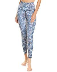 Chrldr Rnbw Zebra Stars High-waisted Legging - Blue