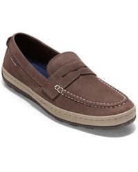 Cole Haan Claude Leather Penny Loafer - Brown