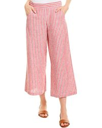 Max Studio Linen-blend Pant - Red